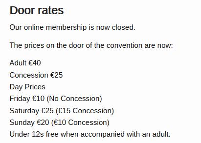 door rates