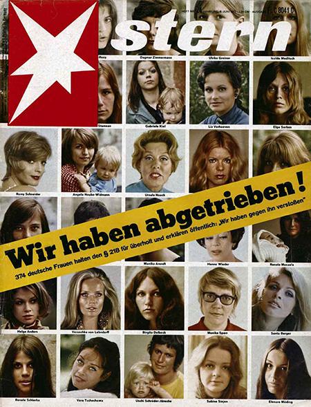 VOE STERN 24/1971 BS 1 Titel Titelseite Wir haben  abgetrieben Abtreibung 1971_24 Schlagworte:Zeitschrift, Presse